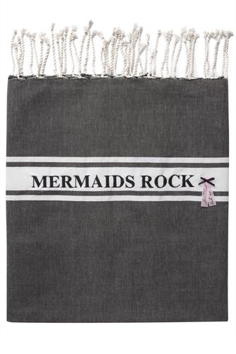 MERMAIDS ROCK TOWEL BLACK